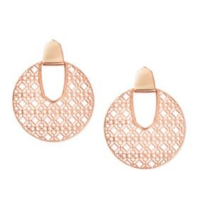New kendra scott earrings in rose gold